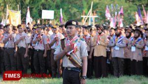Pramuka Sako LP Ma'arif NU Situbondo Gelar Giat Santri Nusantara