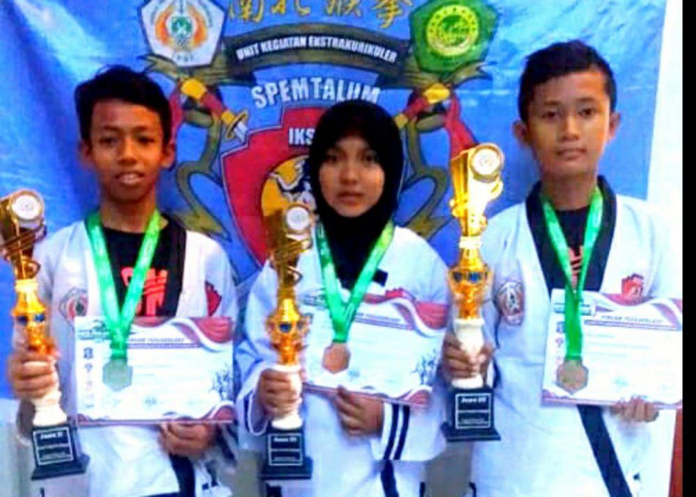 Pesilat SMP Maarif Miftahul Ulum Bungah Raih Medali di Kota Pahlawan Campionship I 2019