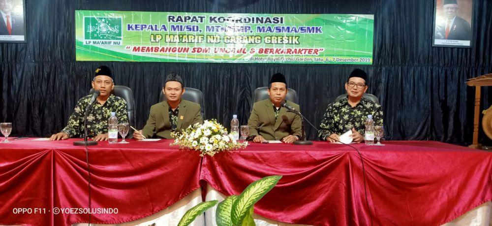LP Maarif NU Gresik Rapat Koordinasi Bahas Penguatan SDM Pendidikan NU