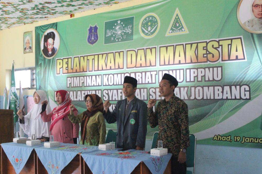 MA Salafiyah Syafiiyah Seblak Lantik Komisariat IPNU-IPPNU
