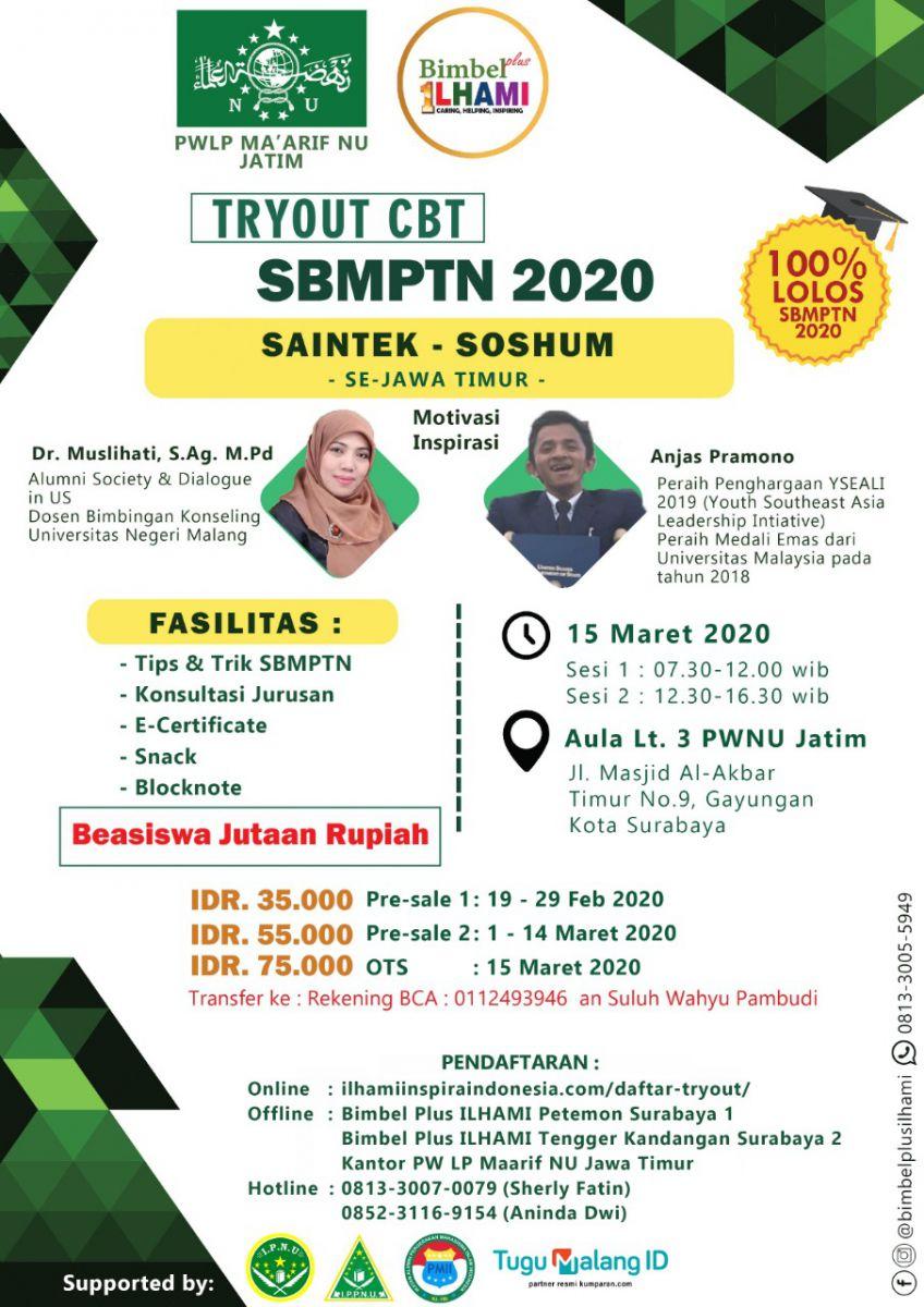 LP Maarif NU Gelar Tryout SBMPTN 2020