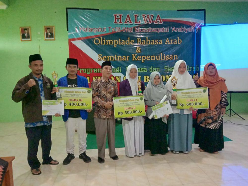 Siti Mar'atus Sholihah, Juara 1 Olimpiade Bahasa Arab Tingkat SLTA se-Bojonegoro