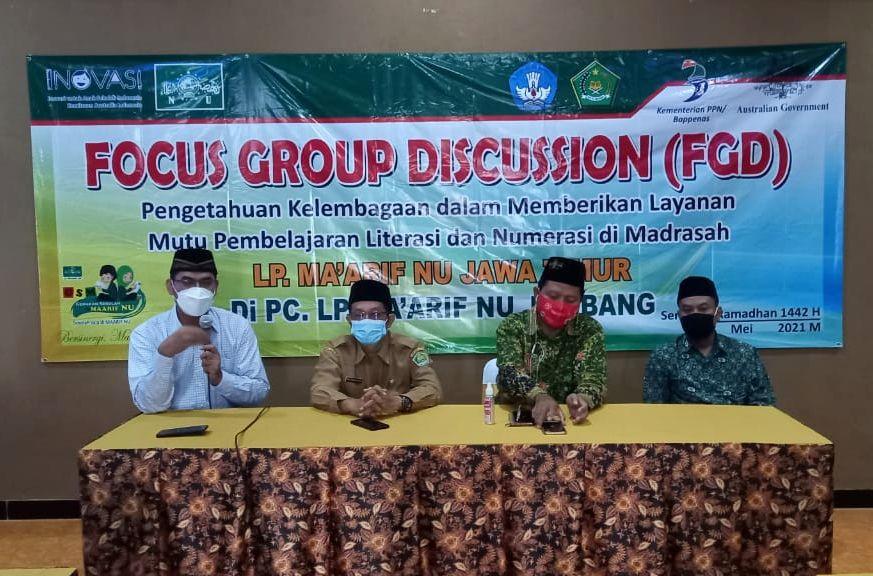 Maarif Jatim Gelar Penguatan Kelembagaan dan FGD Numerasi di Jombang