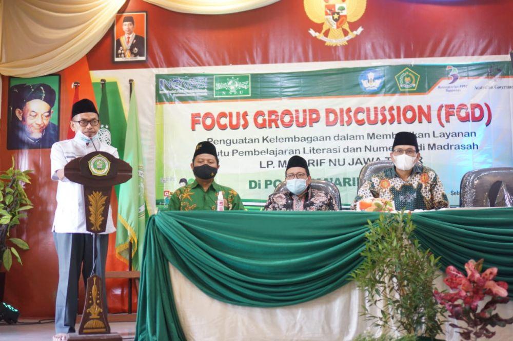 Safari Ramadhan Maarif Jatim: FGD Pembelajaran Literasi di Babat