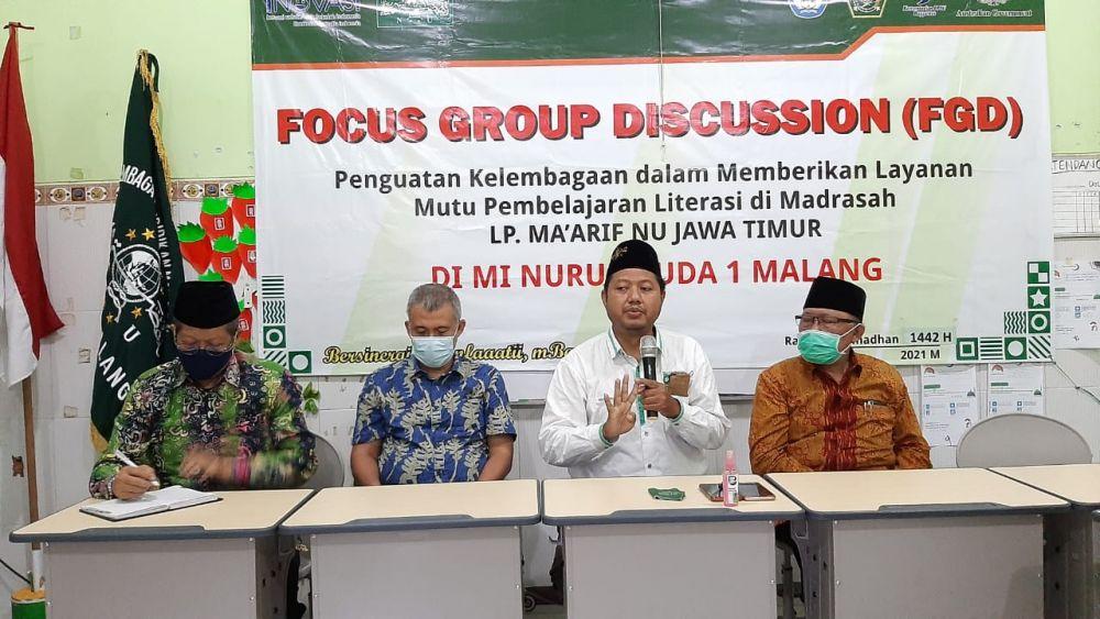 FGD Maarif Jatim, Penguatan Madrasah Literasi Malang